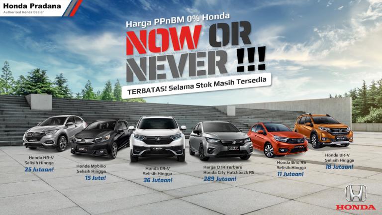Harga Terbaru PPnBM 0% Mobil Honda